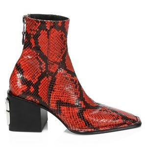 AW Parker Square toe Leather Ankle Boots